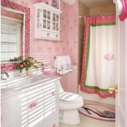 欧式田园风格粉色系卫生间装饰