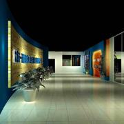 深色调展厅背景墙