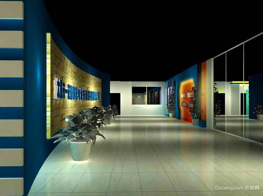 都市现代大户型展厅吊顶背景墙装修效果图