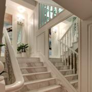 复式楼简约大理石楼梯装饰