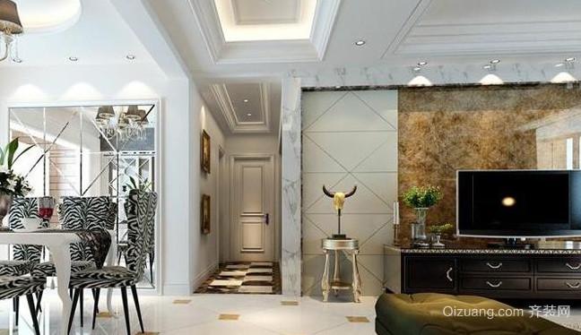 2015简欧风格客厅装修效果图
