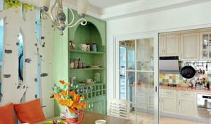 现代地中海式的装修风格二居室