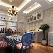 地中海风格餐厅酒柜装饰