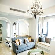 地中海风格客厅飘窗装饰