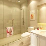 卫生间简约风格背景墙装饰