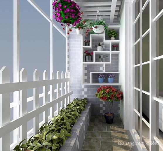 田园风格阳台设计装修效果图