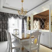 法式简约白色系餐厅灯饰装饰