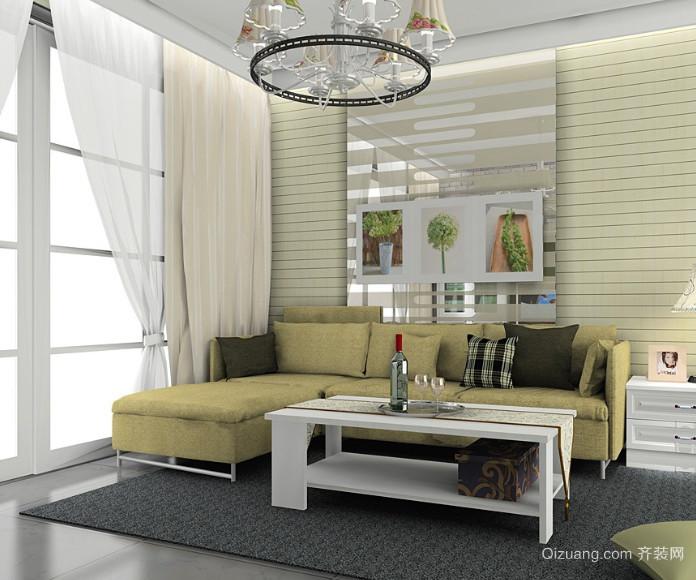70平米韩式小清新客厅装修效果图