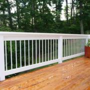 白色简约原木白色系护栏装饰