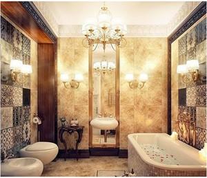 欧式奢华浴室效果图
