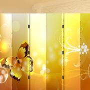现代风格暖色系屏风隔断装饰