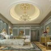 欧式风格卧室大型吊顶装饰