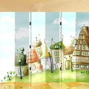 清新风格童话风屏风隔断装饰