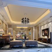 欧式风格奢华客厅吊顶效果图
