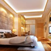 暖色调卧室吊顶装修