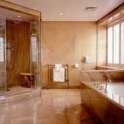 大型别墅简欧风格浴室浴缸装饰