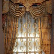 欧式奢华大气卧室窗帘效果图