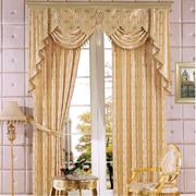 欧式田园风格客厅窗帘装饰