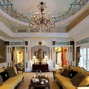 淡色调客厅吊顶设计