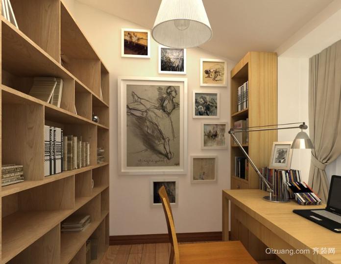 现代简约风格小书房装修效果图