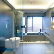 卫生间简约风格窗户装饰效果图