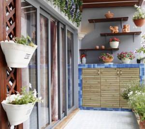 160㎡中式风格阳台花园设计装修效果图
