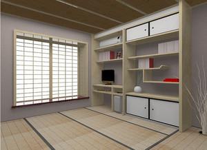 小户型现代日式卧室榻榻米装修效果图