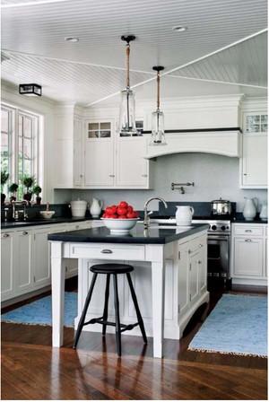 美式简约厨房石膏板吊顶装饰