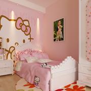 粉色调卧室背景墙
