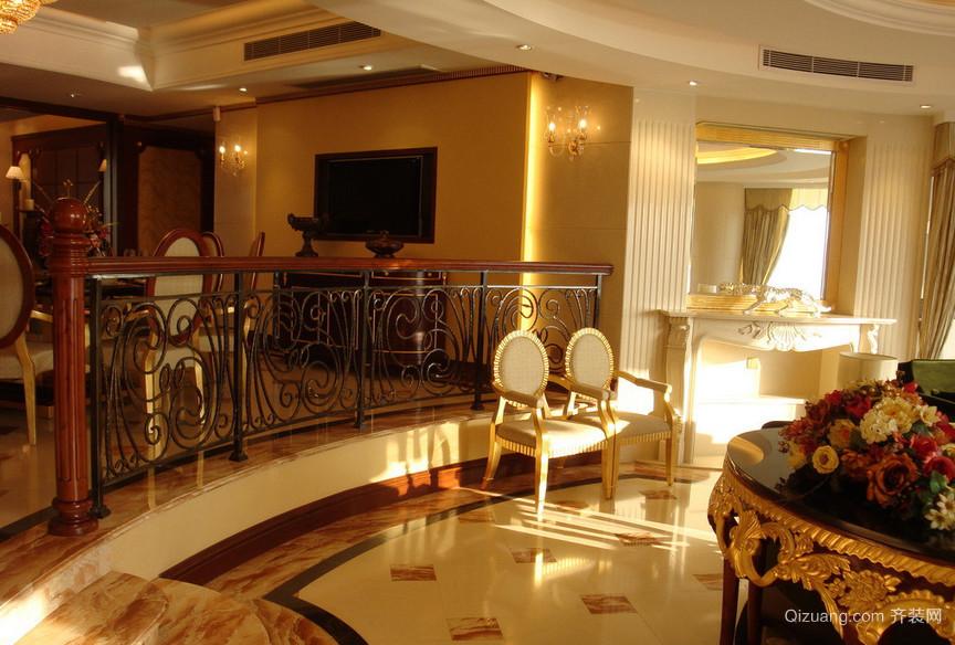 70平米小户型美式错层客厅装修效果图