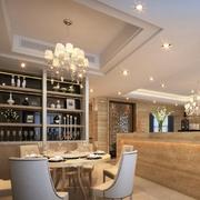 欧式风格整体式餐厅酒柜装饰