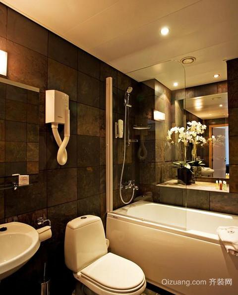 卫生间玻璃隔断装修设计效果图
