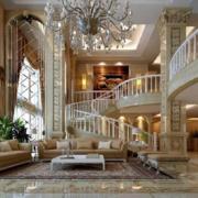欧式奢华风格客厅楼梯装饰