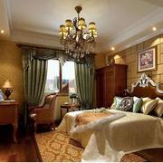 欧式复古卧室窗帘装饰