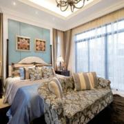 美式风格卧房床头背景墙装饰