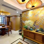 东南亚玄关背景墙装饰