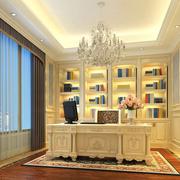 欧式风格奢华书房书柜装饰