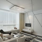 现代简约风格白色隐形门装饰
