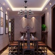 中式风格简约餐厅吊顶装饰