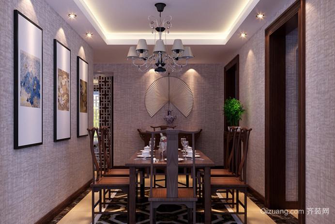2015中式餐厅吊顶装修效果图