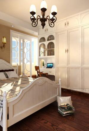 50平米小户型田园卧室衣柜装修效果图