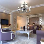 欧式风格客厅简约吊顶装饰