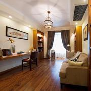 中式简约风格书房沙发装饰
