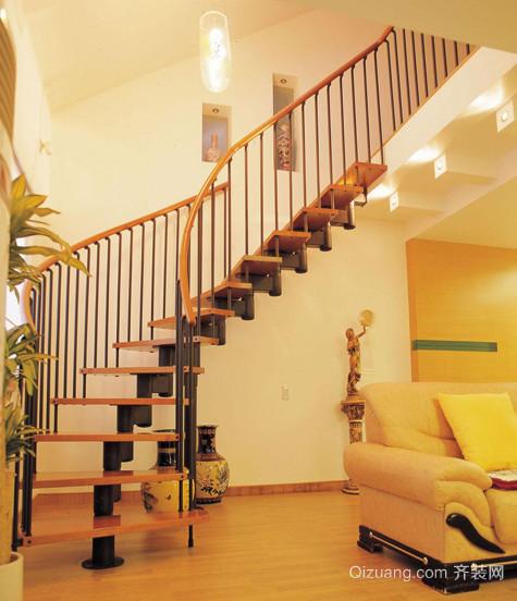 2015全新50平米阁楼楼梯装修效果图