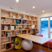 现代风格书房整体置物架装饰