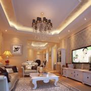 复式楼欧式电视背景墙设计