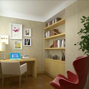 浅色调的书房设计