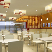中式风格饭店简约吊顶装饰