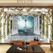 现代化3D电视背景墙装饰