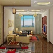 中式简约风格客厅吊顶装饰